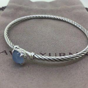 David Yurman Chatelaine Cable Bracelet Chalcedony